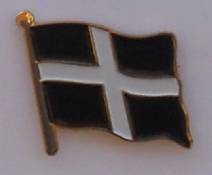Cornwall Country Flag Enamel Pin Badge